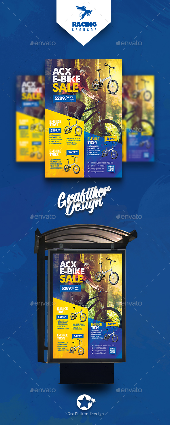Bicycle Sales Poster Templates - Signage Print Templates