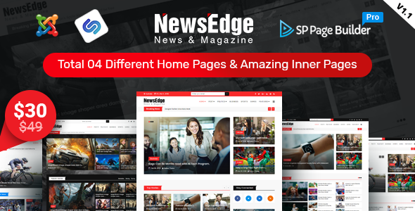 NewsEdge – News & Magazine Joomla Template - Blog / Magazine Joomla