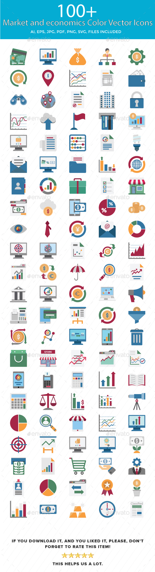 Market and Economics Color Vector Icons - Icons