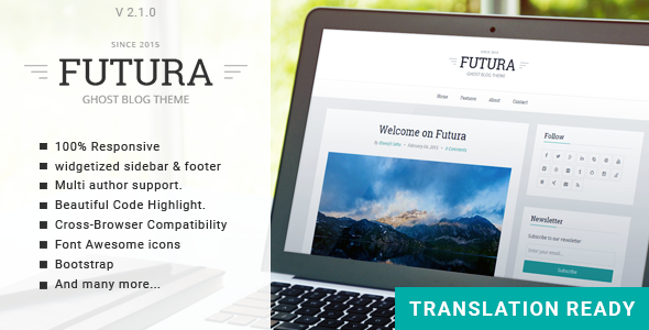 Futura - Responsive Minimal Ghost Theme - Ghost Themes Blogging