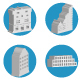 Buildings and Landmark Vector Icons Set