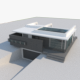 High Tech Grey House - 3DOcean Item for Sale