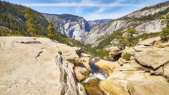 River in the Yosemite National Park, California, USA. - Stock Photo - Images