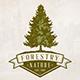 Pine Tree Emblem Logo