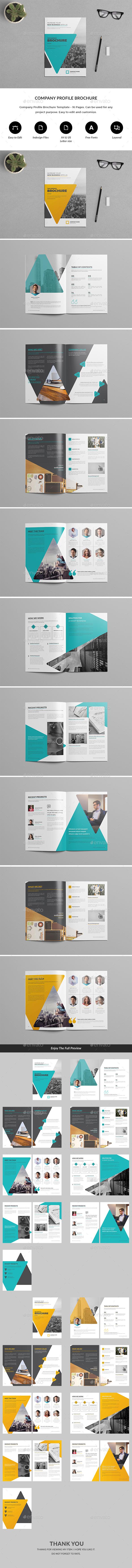 Company Profile Brochure Template By Nashoaib GraphicRiver - Company profile brochure template