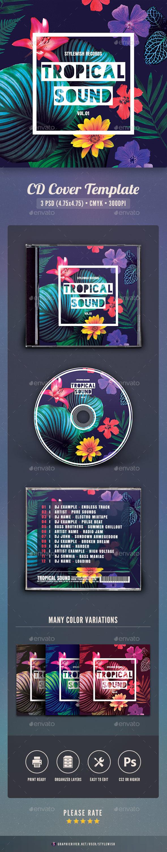 Tropical Sound CD Cover Artwork - CD & DVD Artwork Print Templates