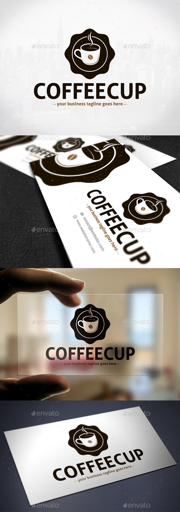Coffee Emblem Creative Logo - Crests Logo Templates