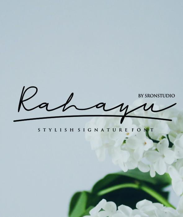 Rahayu - A Stylish Signature Font - Hand-writing Script
