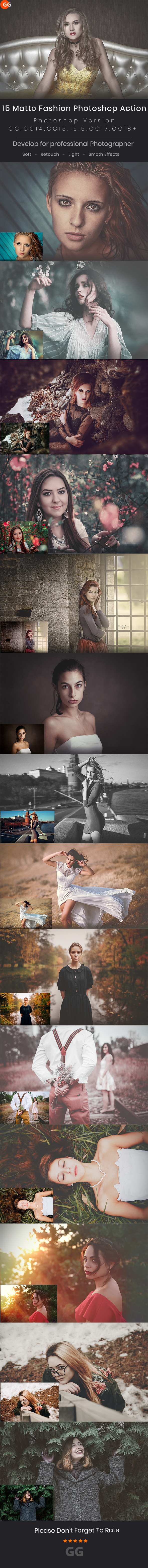 15 Matte Fashion Photoshop Action - Photo Effects Actions