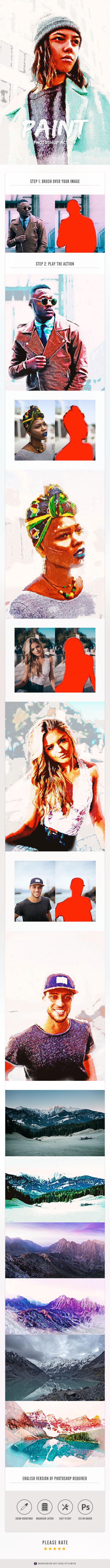 Paint Photoshop Action - Photo Effects Actions
