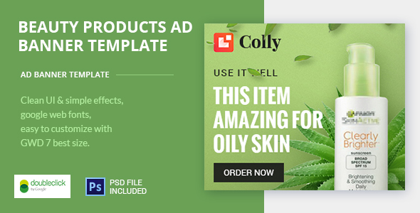 Online Beauty Care HTML Ad 03 - CodeCanyon Item for Sale