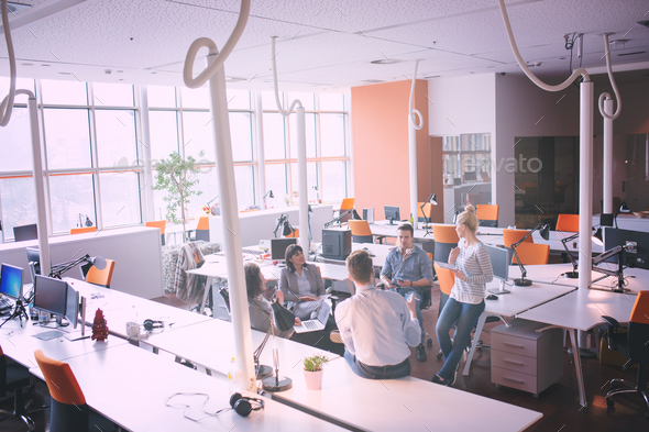 Young Business Team At A Meeting at modern office building - Stock Photo - Images
