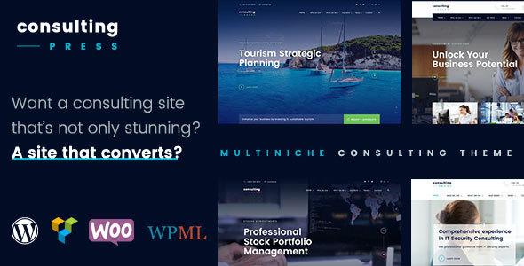 ConsultingPress - Multi Niche Consulting WordPress Theme - Business Corporate