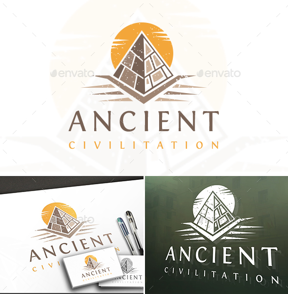 ancient pyramid logo by bosstwinsart graphicriver