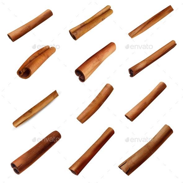 Cinnamon Sticks Set - Food Objects