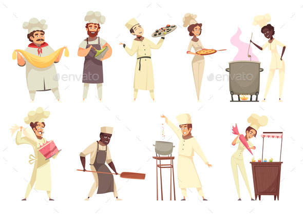 Professional Cooking Set - People Characters
