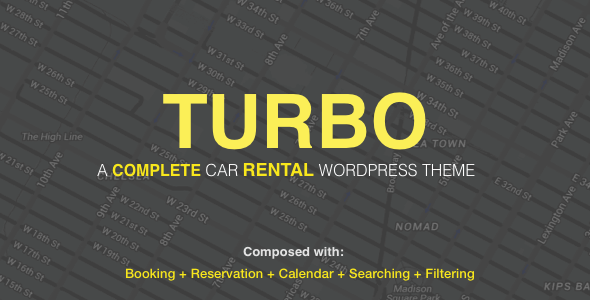 Turbo - Car Rental System WordPress Theme - WooCommerce eCommerce