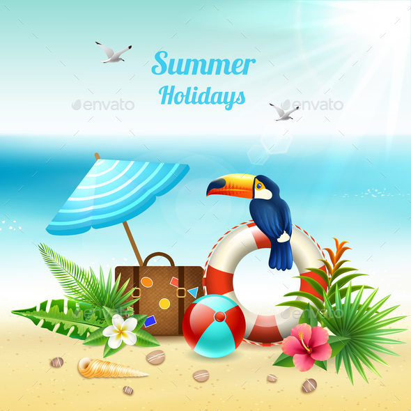 Summer Holidays Realistic Concept - Seasons/Holidays Conceptual