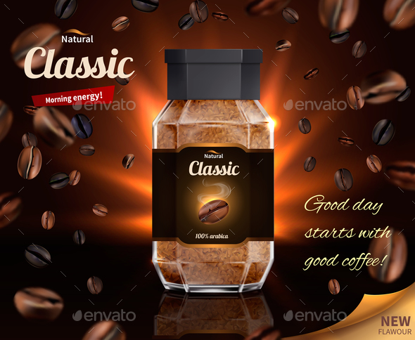 Morning Energy Of Natural Coffee - Miscellaneous Vectors