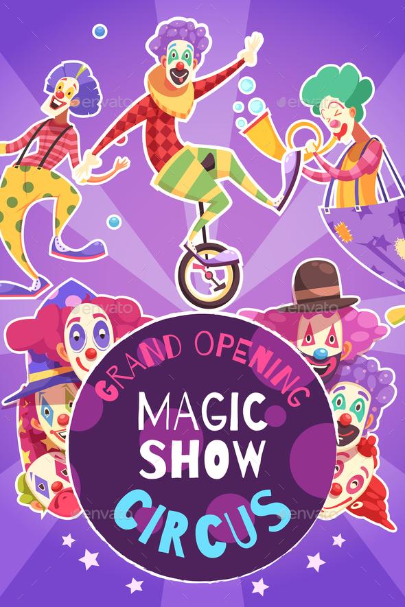 Circus Show Poster - Seasons/Holidays Conceptual