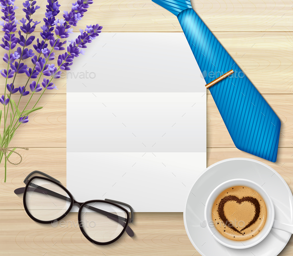 Letter to Daddy Composition - Backgrounds Decorative