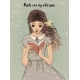 Portrait of a Young Woman with Book - GraphicRiver Item for Sale