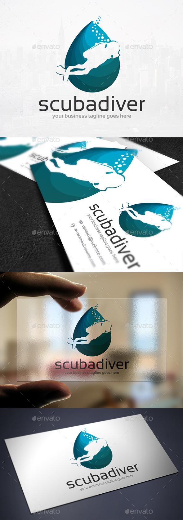 Diving Club Logo Design - Humans Logo Templates