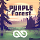 Purple Forest 2D Art - GraphicRiver Item for Sale