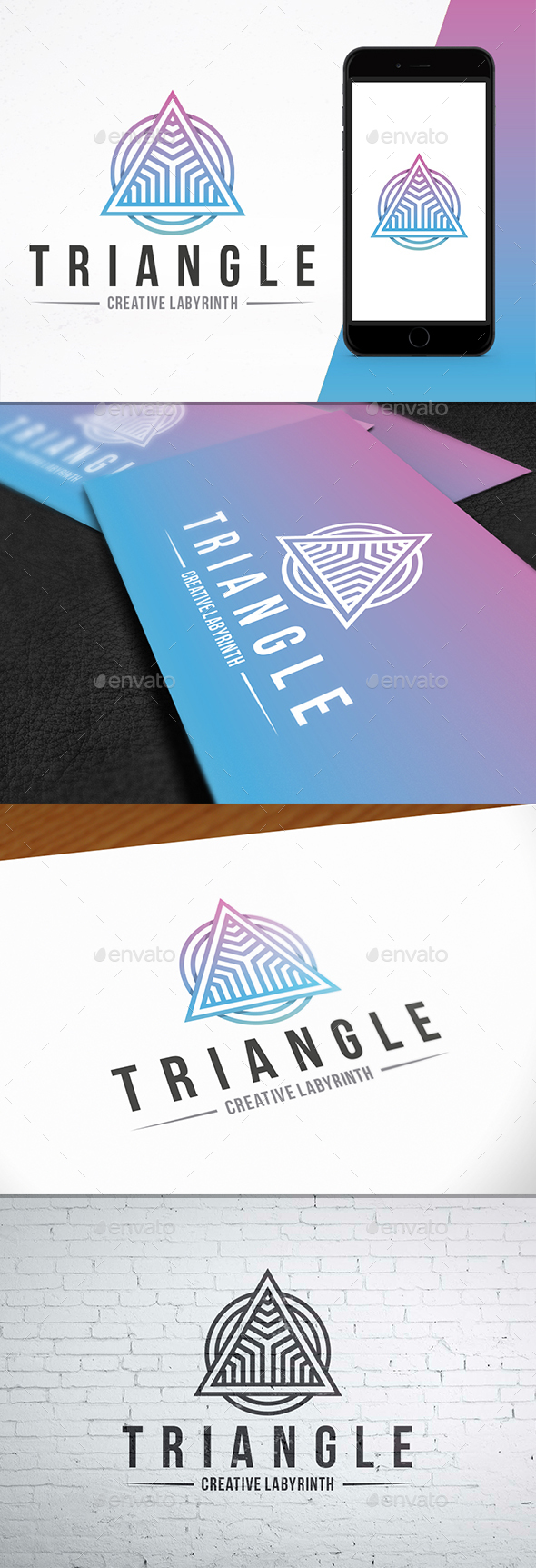 Triangle Maze Creative Logo - Vector Abstract