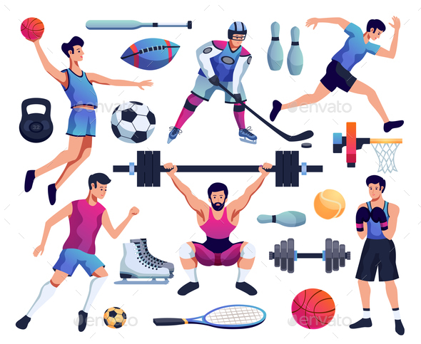 people involved in sport set - Sports/Activity Conceptual
