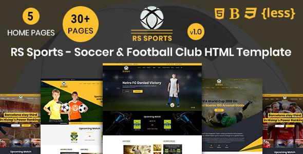 Entertainment Website Templates MasterTemplate - Soccer website templates