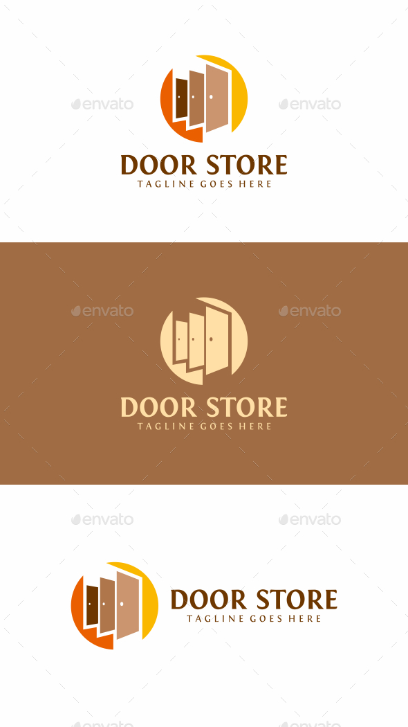 Door Store Logo - Objects Logo Templates