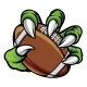 Monster Animal Claw Holding American Football Ball - GraphicRiver Item for Sale