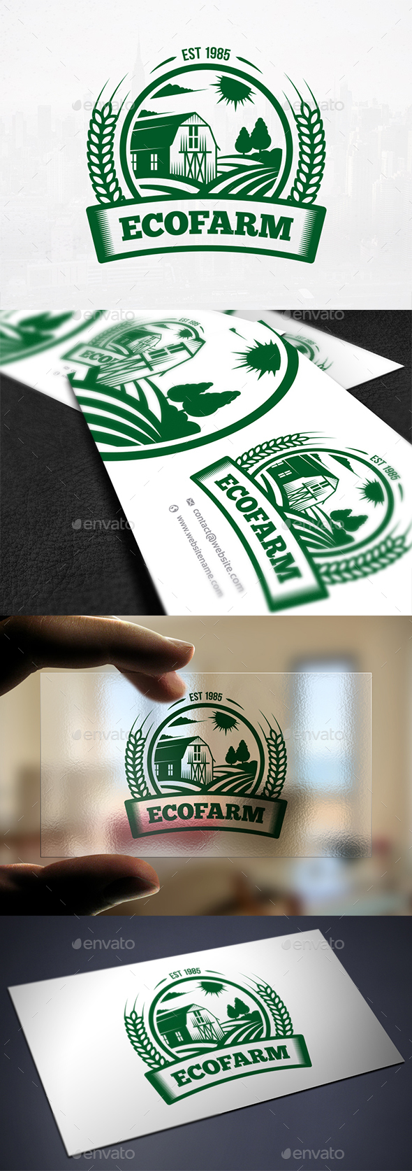 Eco Farm Crest Logo - Crests Logo Templates