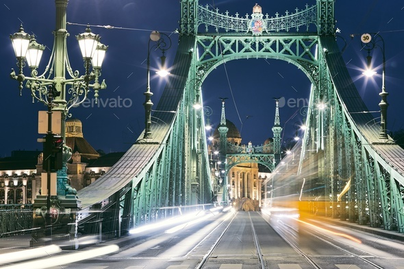 Budapest at night - Stock Photo - Images