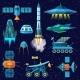 Rocket Vector Spaceship or Spacecraft