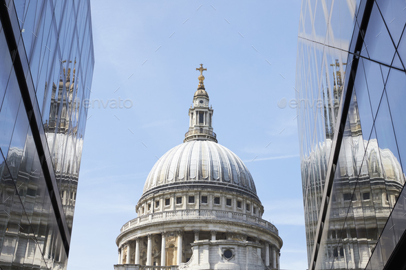 LONDON - MAY, 2017: The dome of St Pauls Cathedra - Stock Photo - Images