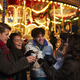Group Of Friends Drinking Mulled Wine At Christmas Market - PhotoDune Item for Sale