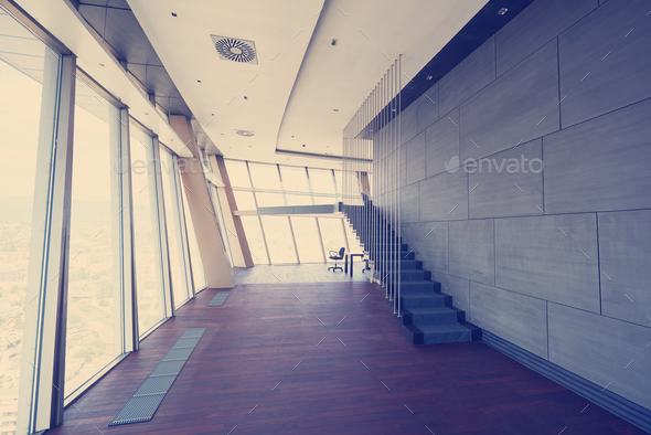 modern bright empty interior - Stock Photo - Images
