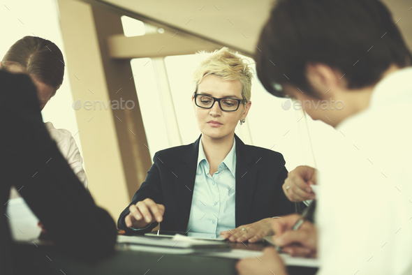 business people group on meeting at office - Stock Photo - Images