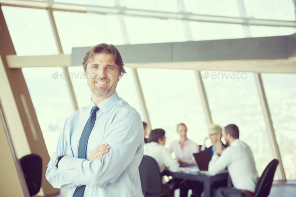portrait of handosme business man - Stock Photo - Images