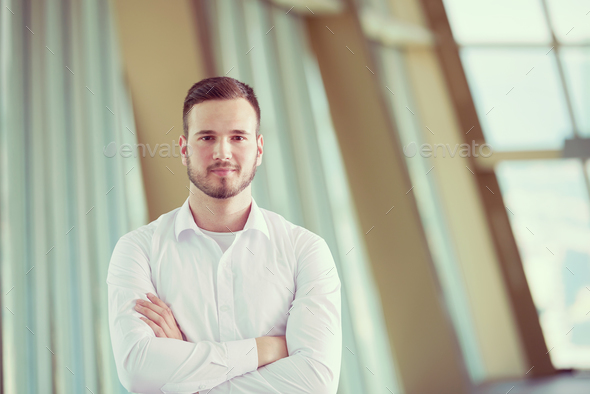 business man with beard at modern office - Stock Photo - Images