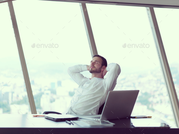 young business man at office - Stock Photo - Images