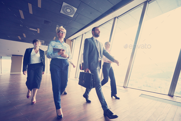 business people group walking - Stock Photo - Images