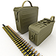 Ammunition boxes for machine gun - 3DOcean Item for Sale