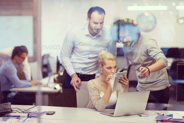 Portrait of successful Business people - Stock Photo - Images
