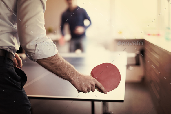 startup business team playing ping pong tennis - Stock Photo - Images