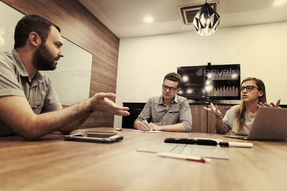 startup business team on meeting - Stock Photo - Images