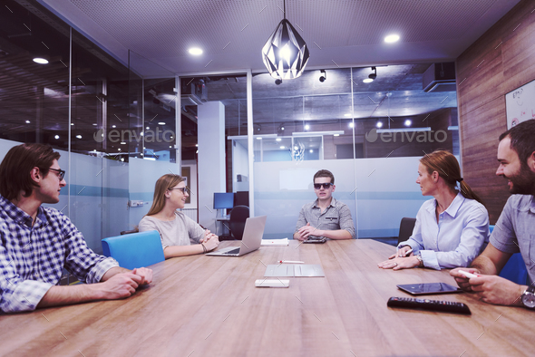 startup business team on meeting at modern office - Stock Photo - Images