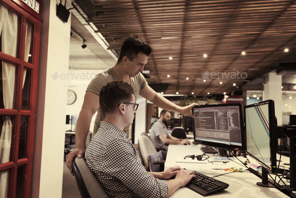 startup business people group working as team to find solution - Stock Photo - Images